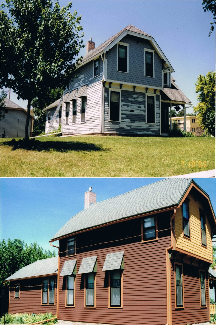 Sherman Hills Historic Home Exterior Painting Central Iowa Contractor - Home-exterior-painting